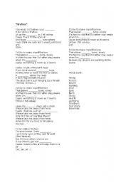 English worksheets: owl city - fireflies lyrics