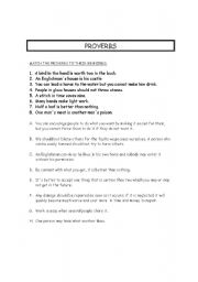 English worksheet: Proverbs