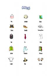 English worksheet: Clothes