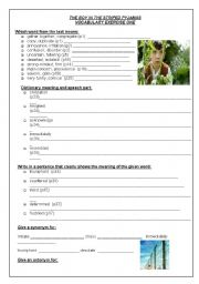 English Worksheet: Vocab exercise from