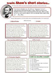 English Worksheet: Irwin Shaw�s short stories