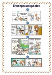 English worksheet: Engangered animals cartoons1