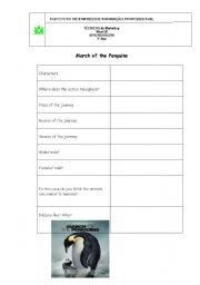 english worksheets march of the pinguins. Black Bedroom Furniture Sets. Home Design Ideas
