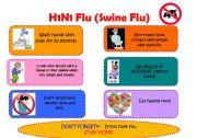 English Worksheets: H1N1 Classroom Poster