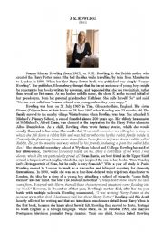 English Worksheets: J. K. Rowling