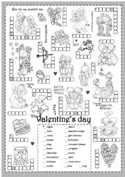 valentine s day worksheets. Black Bedroom Furniture Sets. Home Design Ideas