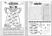 English Worksheet: COLOURS AND CALENDAR