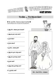 English Worksheets: To Be & To Have Got (short answers)