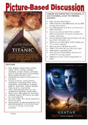 English Worksheet: Picture-Based Discussion (6): Movies