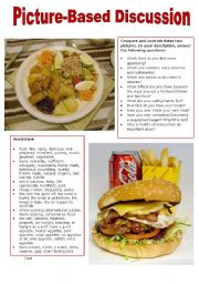 English Worksheet: Picture-Based Discussion (7): Food