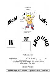 English Worksheets: The Hokey Pokey