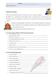English Worksheets: Personal ID - reading comprehension