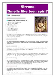English Worksheets: Nirvana �smells like teen spirit�