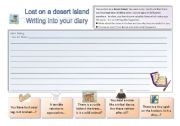 English Worksheets: Lost on a desert island 3/3: Writing activity