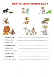 English worksheet: WHAT DOES AN ANÝMAL LÝKE