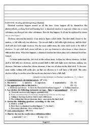 English Worksheets: Chemical reactions