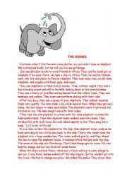 English worksheet: The Gongo