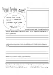 English teaching worksheets: Narrative
