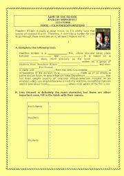 English teaching worksheets: Freedom Writers