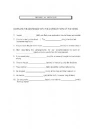 English worksheet: Gerunds vs Infinitives