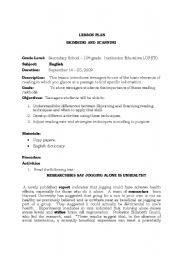 English Worksheets: SKIMMING AND SCANNING