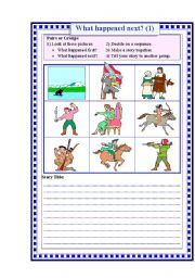 English Worksheets: What hapens next?