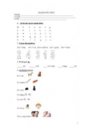 Diagnostic test - Basic knowledge