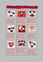 English Worksheets: Pucca Well done cards
