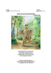 English Worksheets: Make Room for Elephants