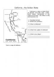 English Worksheets: California