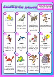 Animal description Game