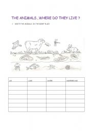 animal habitats worksheets. Black Bedroom Furniture Sets. Home Design Ideas