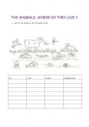 Habitat worksheets for 4th grade