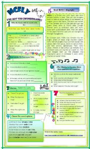 English Worksheets: Song: I�ve Got You - McFly. Song + Bio + activities.