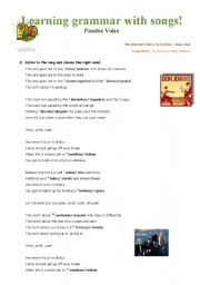 Learning grammar with songs - Passive Voice