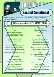 English Worksheets: Second Conditional - Song Activity - If Everyone Cared (Nickelback)