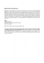 English Worksheets: Interactive writing
