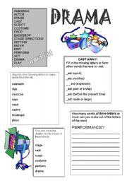 English Worksheet: Drama Words