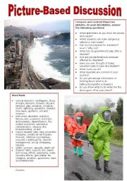 English Worksheet: Picture-Based Discussion (9): The Environment (2): Disasters