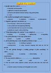 English Worksheets:  english for teachers