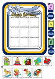 English Worksheet: WHEN IS HIS / HER BIRTHDAY? - BOARD GAME (PART 2)