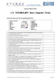 computer terms worksheet lesupercoin printables worksheets. Black Bedroom Furniture Sets. Home Design Ideas
