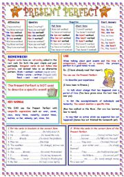 English Worksheets: Present Perfect