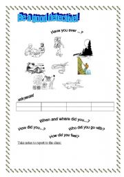 English Worksheets: Are your a good detective?