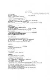 English Worksheets: Don´t speak