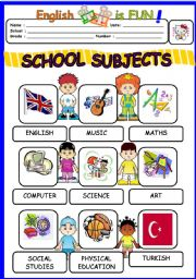 school subjects esl worksheet by bburcu. Black Bedroom Furniture Sets. Home Design Ideas
