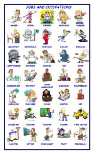 English Worksheets: Jobs and Occupations Pictionary