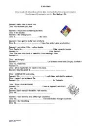 English worksheet: A blind date