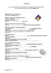 English worksheet: A blind date