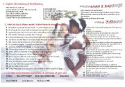 English Worksheet: Love Idioms - St. Valentine
